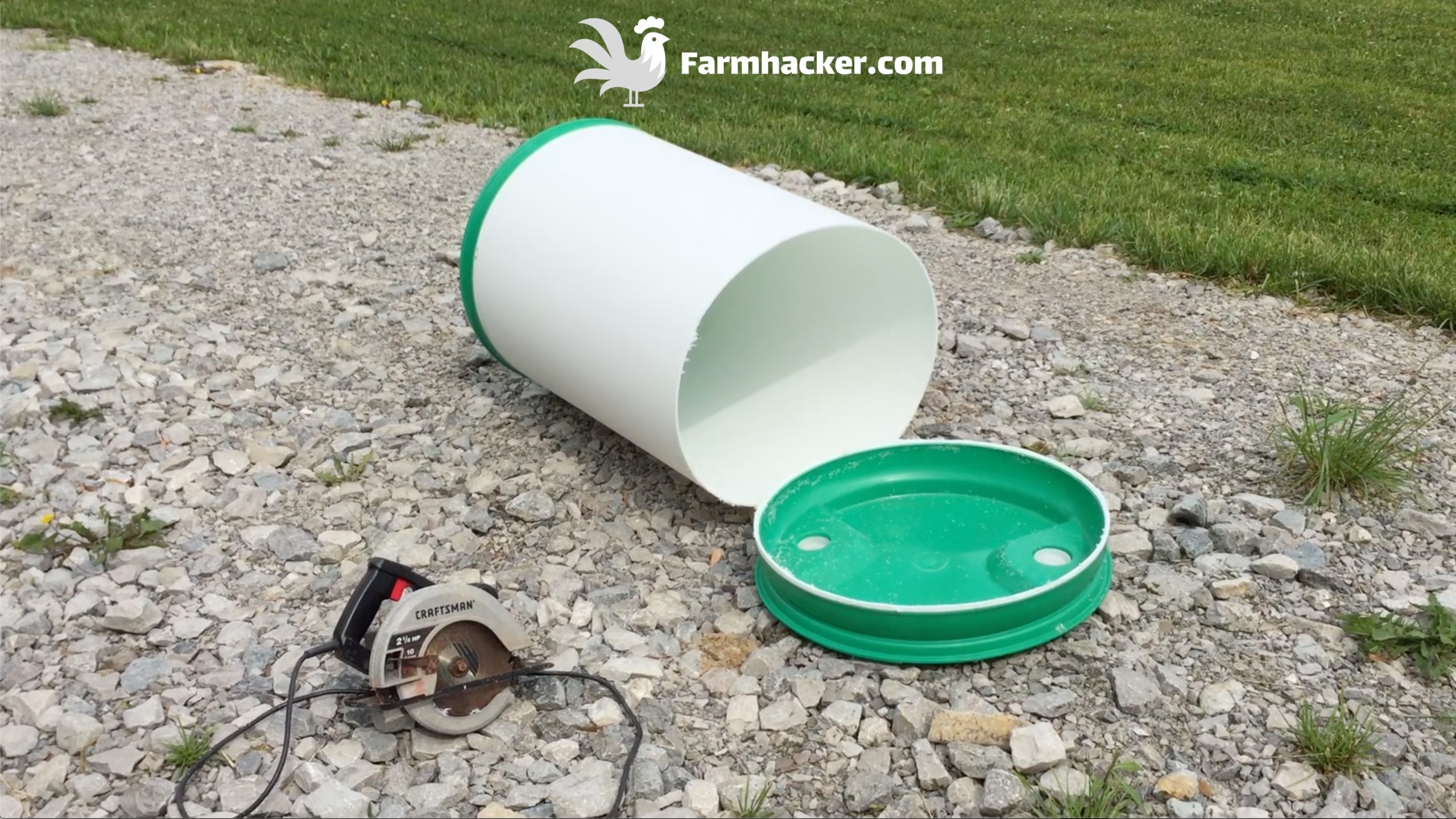 How to Make an Automatic Pig Waterer Drinker Barrel Top Removal