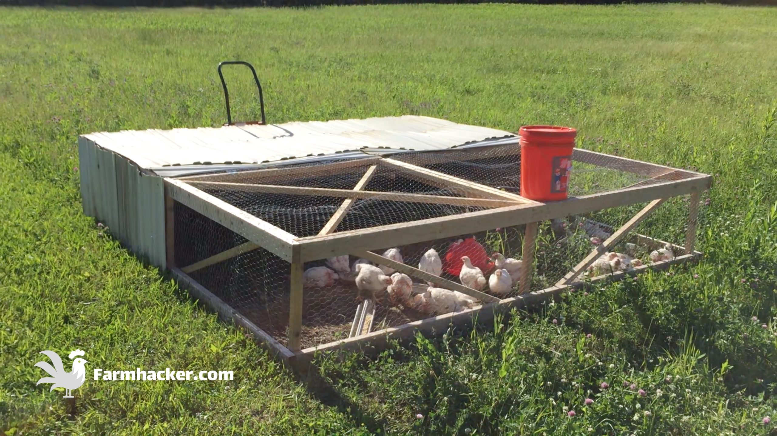 How to Build a Joel Salatin Style Chicken Tractor Step 4