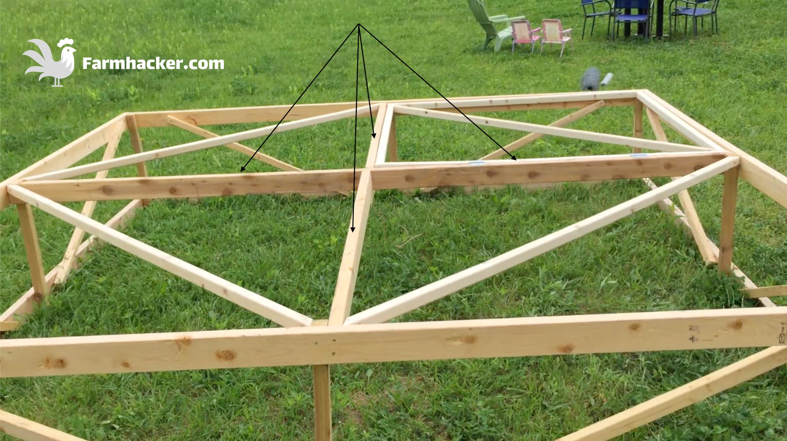 How to Build a Joel Salatin Style Chicken Tractor Step 2.1