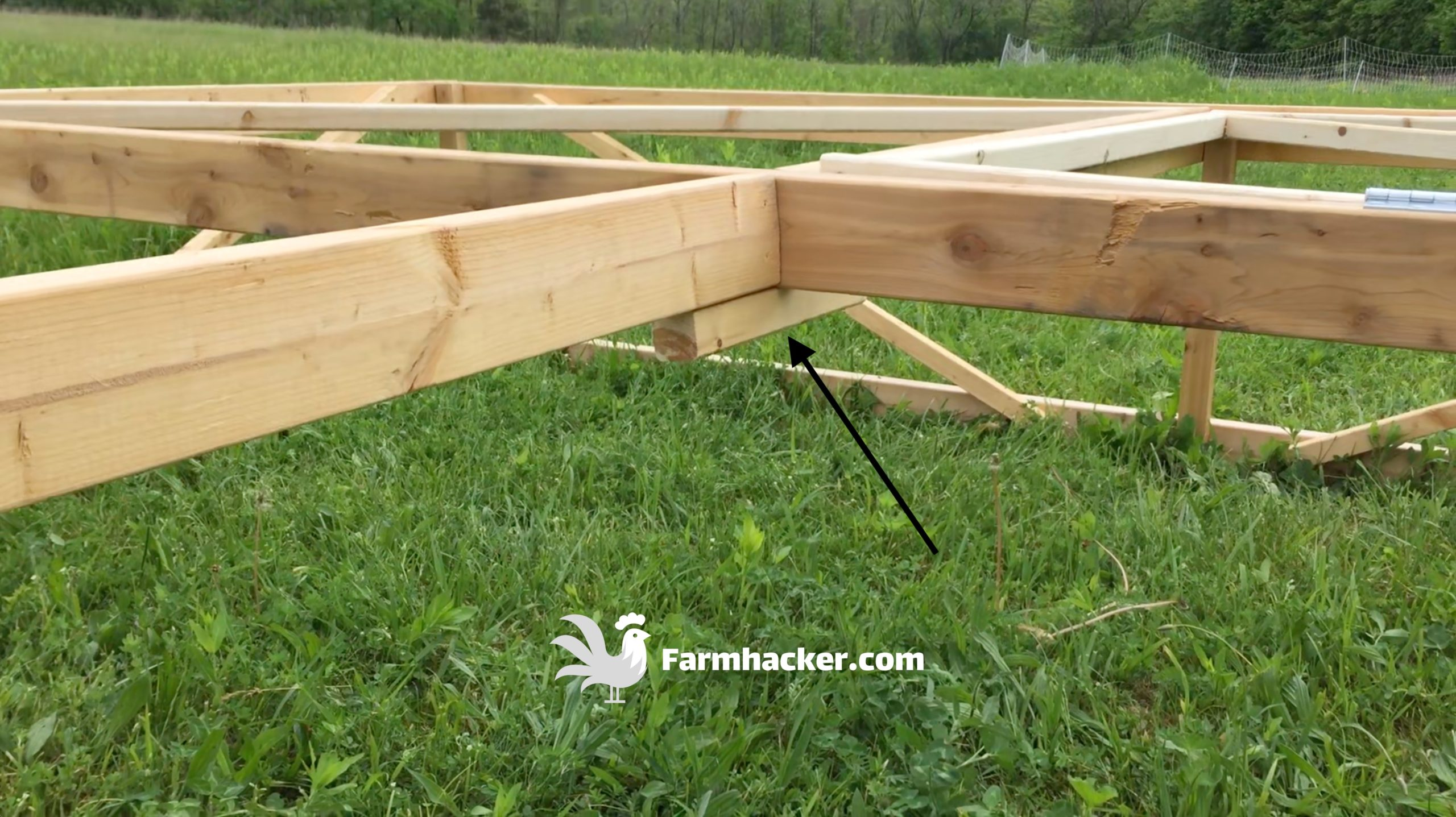 How to Build a Joel Salatin Style Chicken Tractor Step 2.2