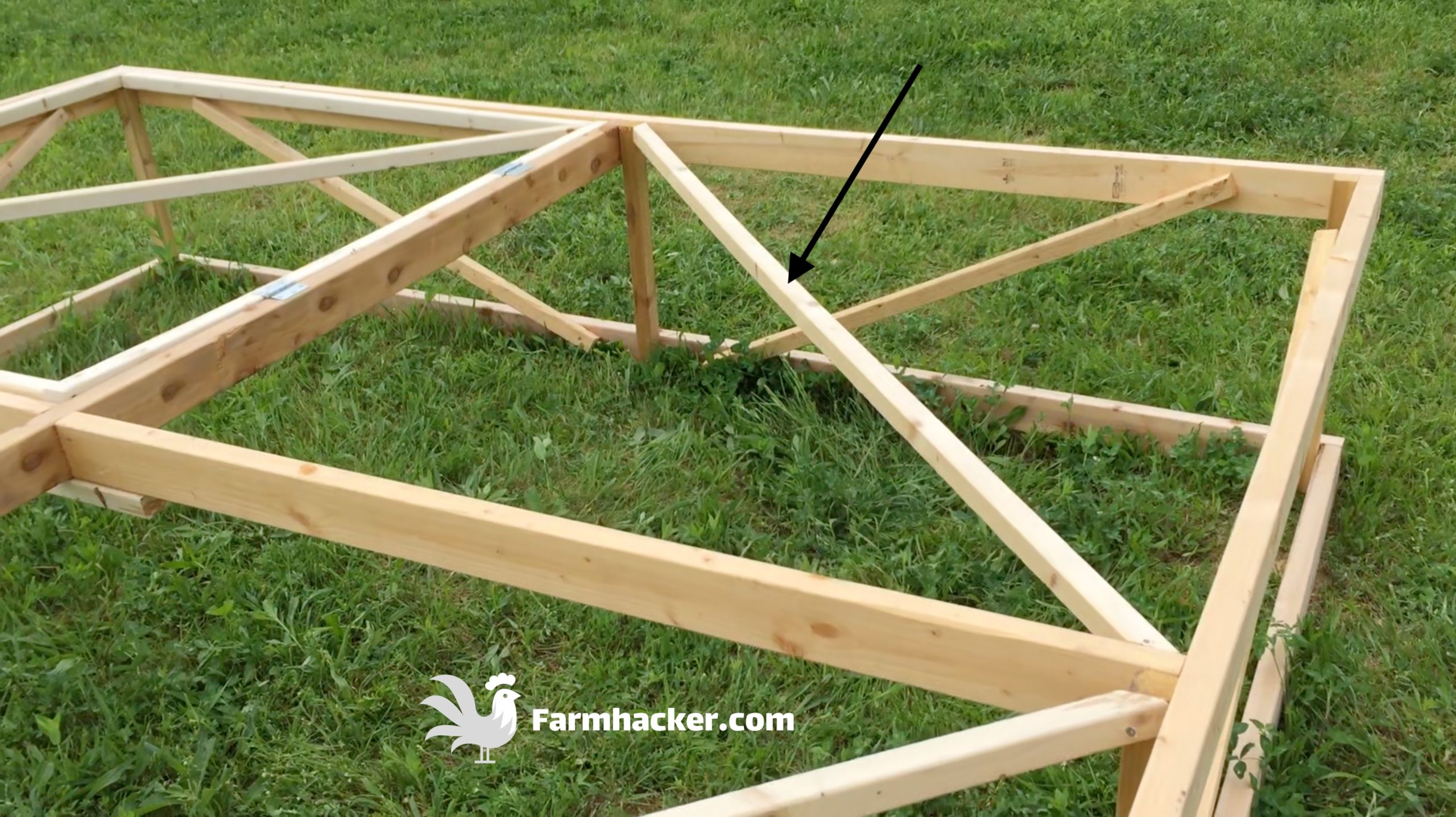 How to Build a Joel Salatin Style Chicken Tractor Step 2.4