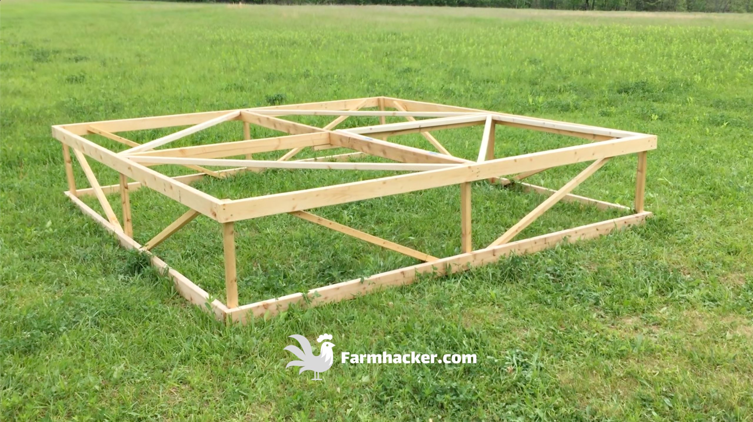 How to Build a Joel Salatin Style Chicken Tractor Step 2