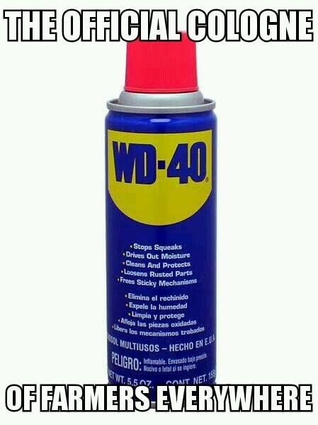 The Official Cologne of Farmers Everywhere - Farming Memes - WD-40 Can Image
