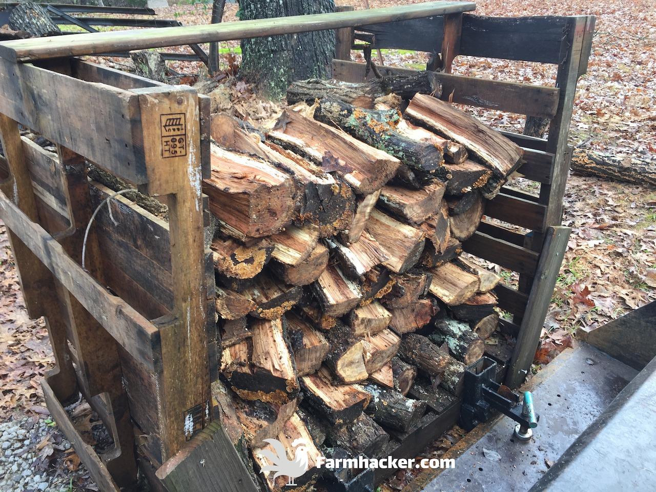 Stack of Split Wood