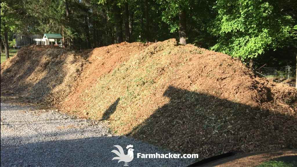 A Giant Pile of Wood Chips