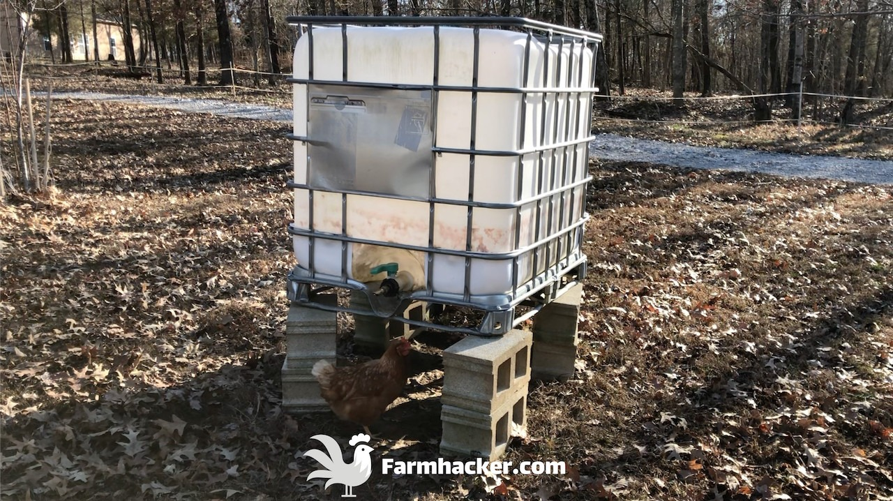 How to Make a Portable Pig Waterer From a 275 Gallon Tote